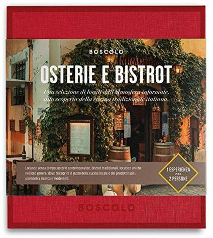 Cofanetto Gift Box Boscolo. Osterie E Bistrot