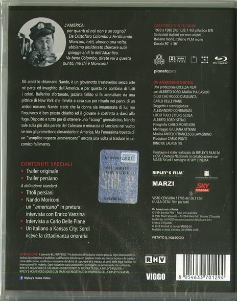 Un americano a Roma (Blu-ray) di Steno - Blu-ray - 2