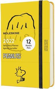 Agenda giornaliera Moleskine Peanuts 2022, 12 mesi, Pocket - Giallo