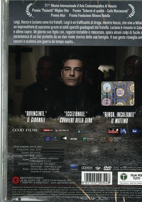 Anime nere di Francesco Munzi - DVD - 2