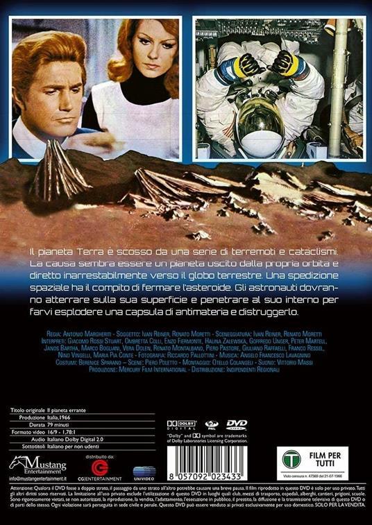 Pianeta errante (DVD) di Antonio Margheriti - DVD - 2