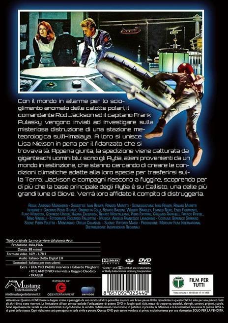 Morte del pianeta Aytin (DVD) di Antonio Margheriti - DVD - 2