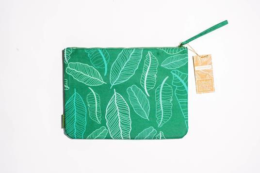 Zip Pocket Foglie Verdi - 2