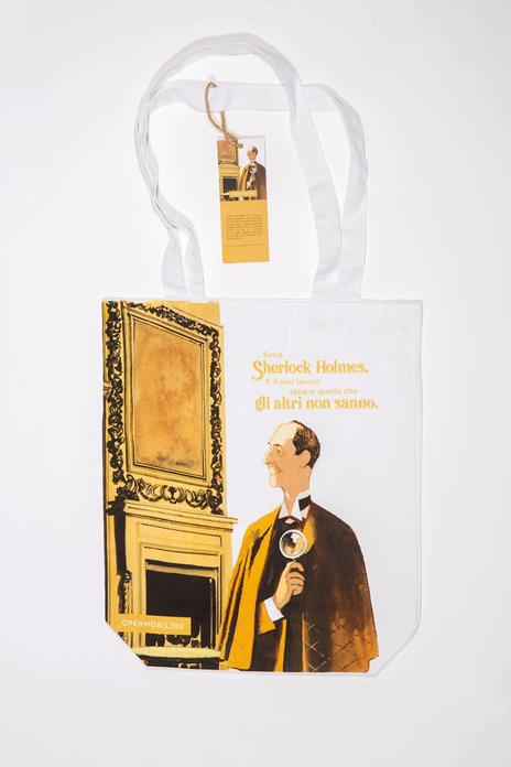 Borsa Shopper in Canvass OpenWorlds Lettura Sherlock Holmes