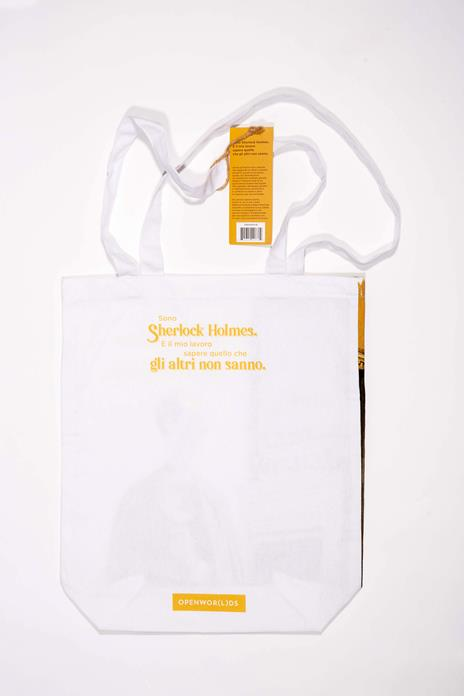 Borsa Shopper in Canvass OpenWorlds Lettura Sherlock Holmes - 2
