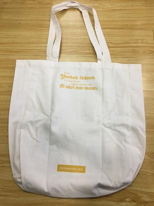 Borsa Shopper in Canvass OpenWorlds Lettura Sherlock Holmes - 3
