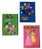 Quaderno Maxi A4 Super Mario Quadretti piccoli 4 mm 100 gr.