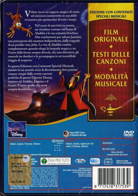 Aladdin<span>.</span> Edizione speciale di Ron Clements,John Musker - DVD - 2