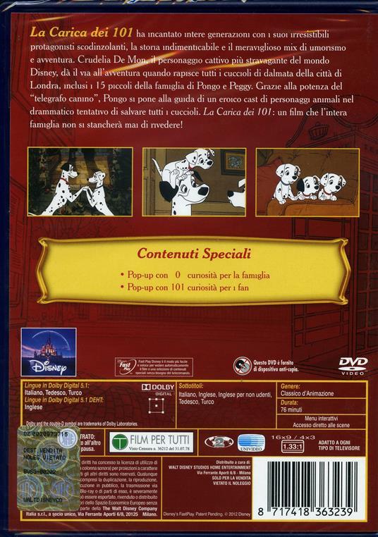 La carica dei 101<span>.</span> Special Edition di Wolfgang Reitherman,Hamilton Luske,Clyde Geronimi - DVD - 2