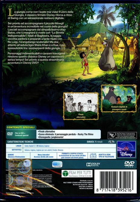 Il libro della giungla<span>.</span> Edizione speciale di Wolfgang Reitherman - DVD - 2