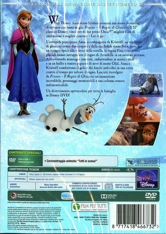Frozen. Il regno di ghiaccio (DVD) di Chris Buck,Jennifer Lee - DVD - 2