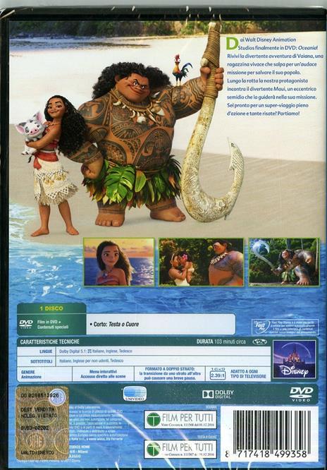Oceania (DVD) di Ron Clements,John Musker,Chris Williams,Don Hall - DVD - 2