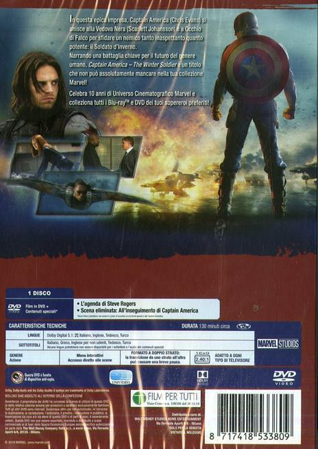 Captain America. The Winter Soldier di Anthony Russo,Joe Russo - DVD - 2