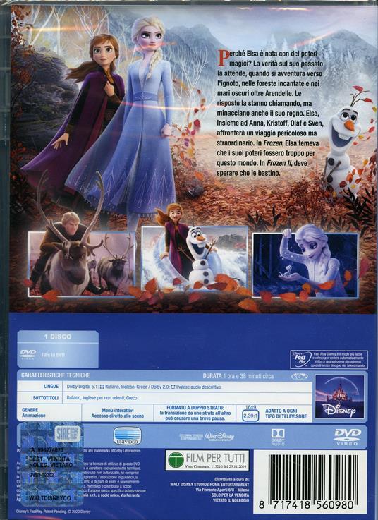 Frozen 2. Il segreto di Arendelle (DVD) di Jennifer Lee,Chris Buck - DVD - 2