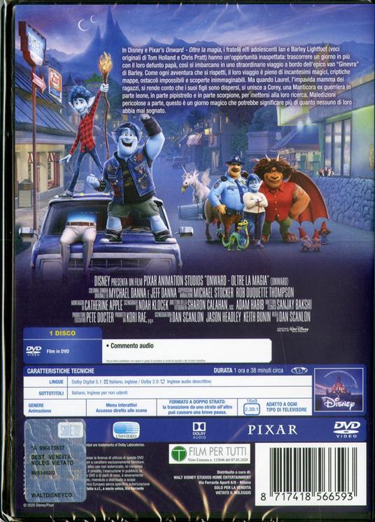 Onward. Oltre la magia (DVD) di Dan Scanlon - DVD - 2