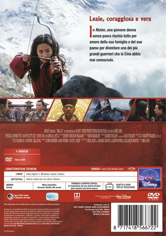 Mulan Live Action (DVD) di Niki Caro - DVD - 2