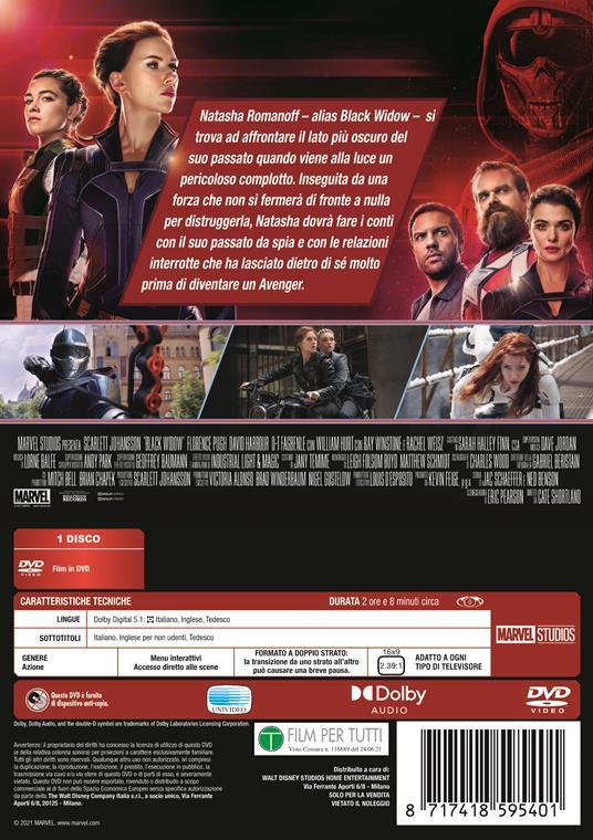 Black Widow (DVD) di Cate Shortland - DVD - 2