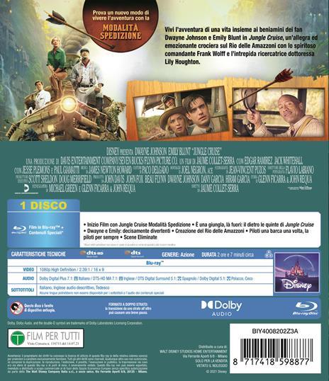 Jungle Cruise (Blu-ray) di Jaume Collet-Serra - Blu-ray - 2