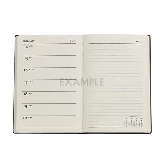 Agenda 2022 Paperblanks, 12 Mesi, Acciaio, Mini, VSO, Collezione Antica Pelle - 9,5 x 14 cm - 2