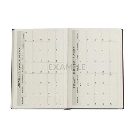 Agenda 2022 Paperblanks, 12 Mesi, Acciaio, Mini, VSO, Collezione Antica Pelle - 9,5 x 14 cm - 3