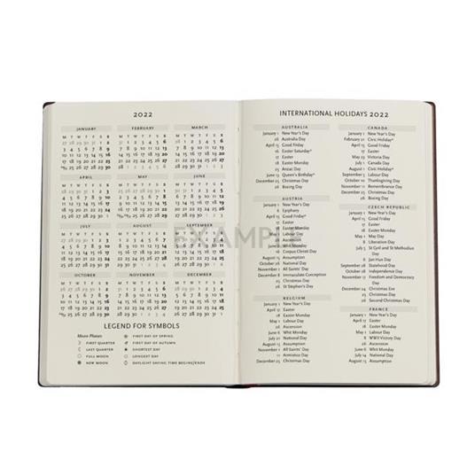 Agenda 2022 Paperblanks, 12 Mesi, Acciaio, Mini, VSO, Collezione Antica Pelle - 9,5 x 14 cm - 4