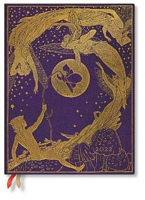 Agenda 2022 Paperblanks, 12 Mesi, La Fata Viola, Ultra, OR, I Libri delle FatediLang - 18 x 23 cm