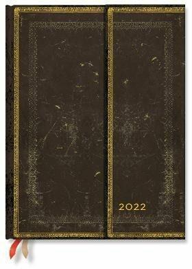 Agenda 2022 Paperblanks, 12 Mesi, Arabica, Ultra, VSO, Collezione Antica Pelle - 18 x 23 cm