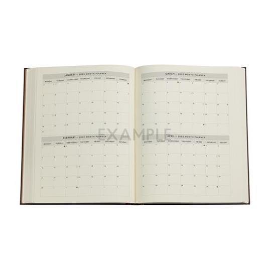 Agenda 2022 Paperblanks, 12 Mesi, Arabica, Ultra, VSO, Collezione Antica Pelle - 18 x 23 cm - 3