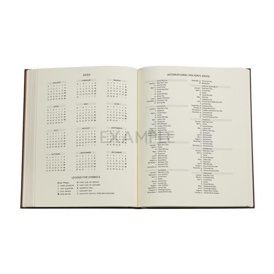 Agenda 2022 Paperblanks, 12 Mesi, Arabica, Ultra, VSO, Collezione Antica Pelle - 18 x 23 cm - 4