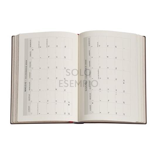Agenda 2022 Paperblanks, 12 Mesi, Sierra, Midi, VER, Collezione Antica Pelle - 13 x 18 cm - 3