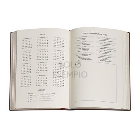 Agenda 2022 Paperblanks, 12 Mesi, Sierra, Midi, VER, Collezione Antica Pelle - 13 x 18 cm - 4