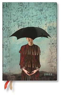 Agenda 2022 Paperblanks, 12 Mesi, Paesaggi di Parole, Midi, OR, Libera la Mente - 12,5 x 17,5 cm