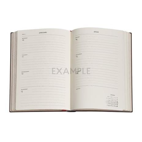 Agenda 2022 Paperblanks, 12 Mesi, Paesaggi di Parole, Midi, OR, Libera la Mente - 12,5 x 17,5 cm - 2