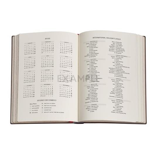 Agenda 2022 Paperblanks, 12 Mesi, Paesaggi di Parole, Midi, OR, Libera la Mente - 12,5 x 17,5 cm - 4