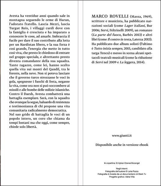 La guerriera dagli occhi verdi - Marco Rovelli - 2