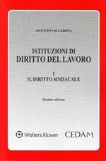 Istituzioni di diritto del lavoro. Vol. 1: Il diritto sindacale.