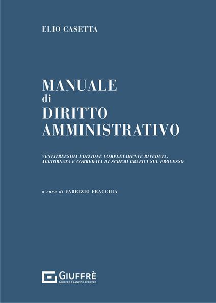 Manuale di diritto amministrativo - Elio Casetta - copertina