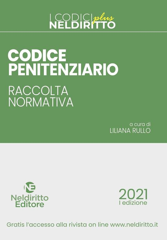 Codice penitenziario. Raccolta normativa. Nuova ediz. Con Contenuto digitale per accesso on line - copertina
