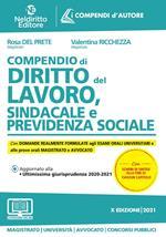 Compendio di diritto del lavoro, sindacale e della previdenza sociale. Nuova ediz.