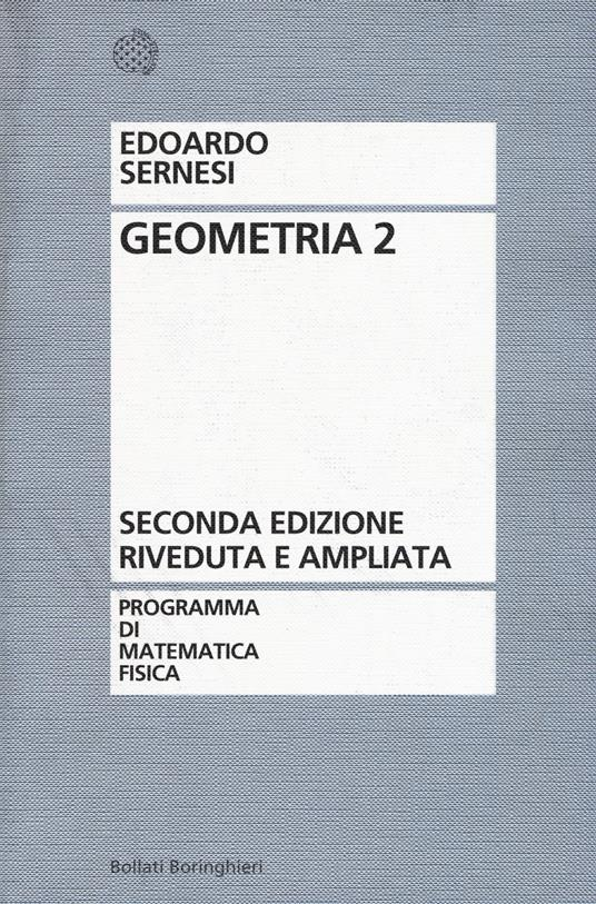 Geometria. Vol. 2 - Edoardo Sernesi - copertina