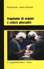 Trapianto di organi e criteri allocativi