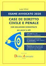 Esame avvocato 2020. Casi di diritto civile e penale. Con soluzioni dimostrate