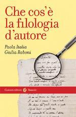 Che cos'è la filologia d'autore