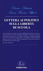 Lettera ai politici sulla libertà di scuola