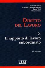Diritto del lavoro. Vol. 2: rapporto di lavoro subordinato, Il.