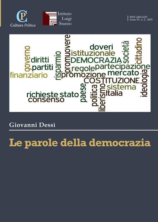 Le parole della democrazia - Giovanni Dessì - copertina