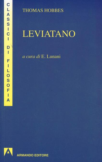 Leviatano - Thomas Hobbes - copertina