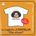 T-Shirt Mafalda a maniche corte, bambino 3/4 anni. Bianco. Che stress!