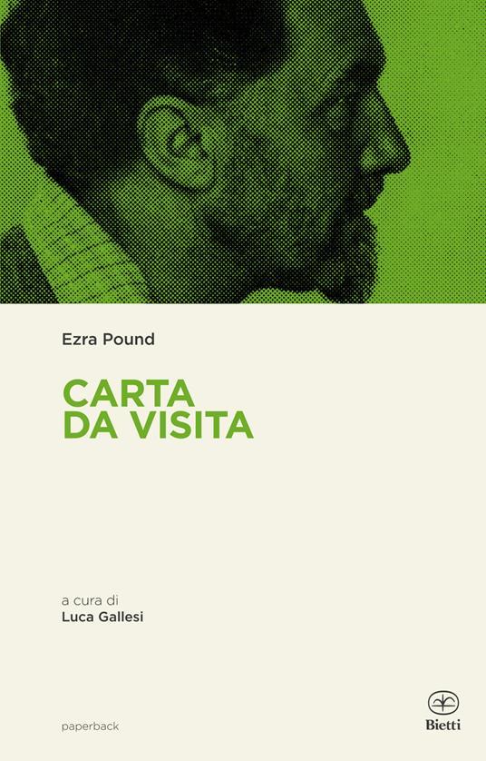 Carta da visita - Ezra Pound - copertina