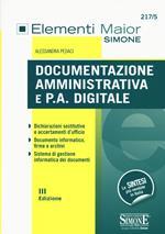 Documentazione amministrativa e P.A. digitale